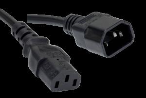 Verlengkabel IEC320 C13 female > C14 male (2,0m)