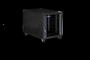 Prestaq serverkast B600*D1000*12HE - Glazen voordeur