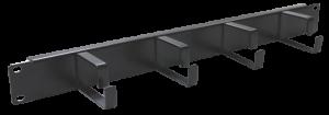 Prestaq rangeerpaneel met metalen (70mm) haken - 1HE