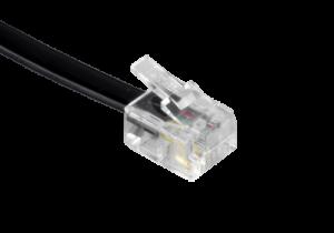 Modulaire kabel, 2x RJ11, 7,5 meter, zwart
