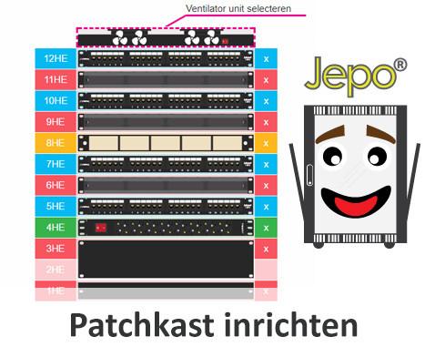 Patchkast inrichten is makkelijk met JEPO